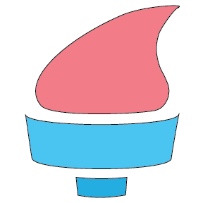 Hand holding torch logo